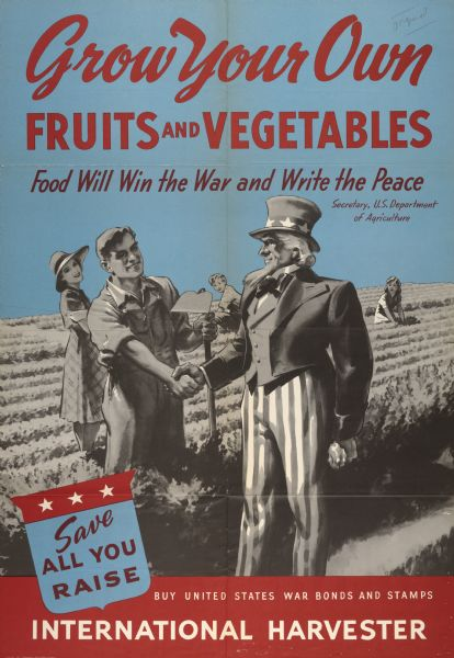Victory garden poster from WWII