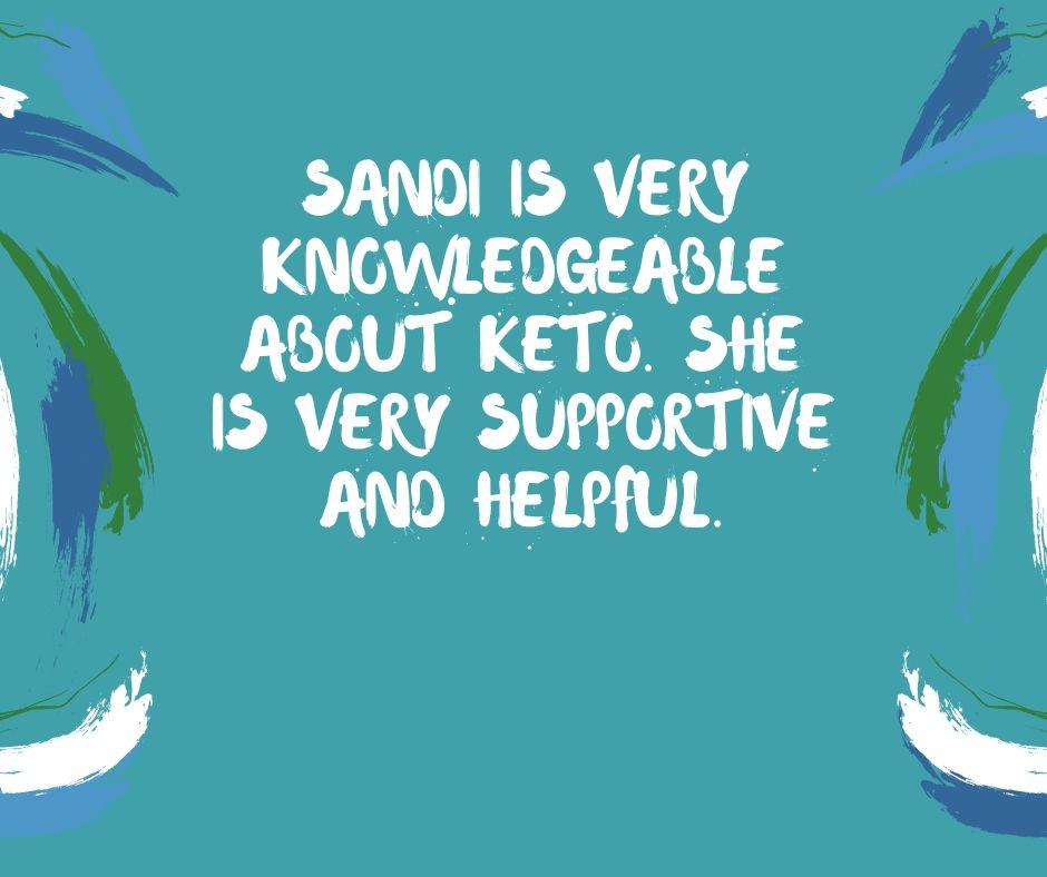 client review for Sandi K Keto Coach