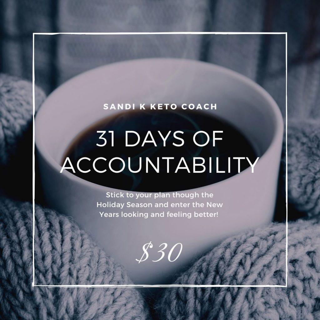 31 days of accountability through Holidays